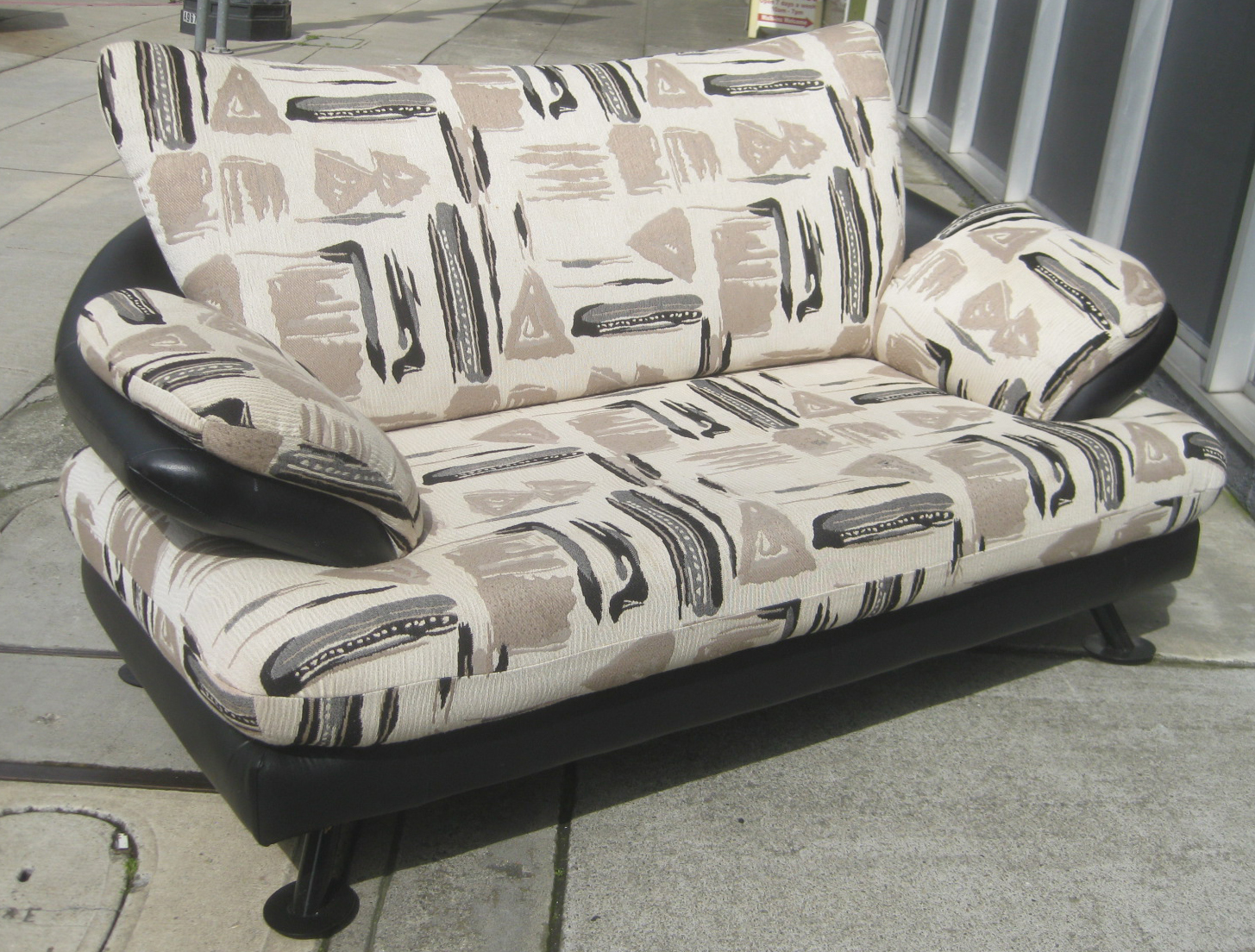 print sofa set reclining grey leather uhuru furniture and collectibles sold african