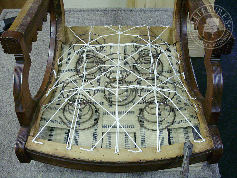 antique platform rocking chair with springs icomfort ic1124 therapeutic massage lefebvre's upholstery: eastlake / victorian rocker - floral striped fabric