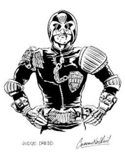 The early Judge Dredd by Graeme Neil Reid