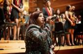 La primera dama del estado vargas felicitó a los músicos y personal de el sistema en nombre del gobernador garcía carneiro