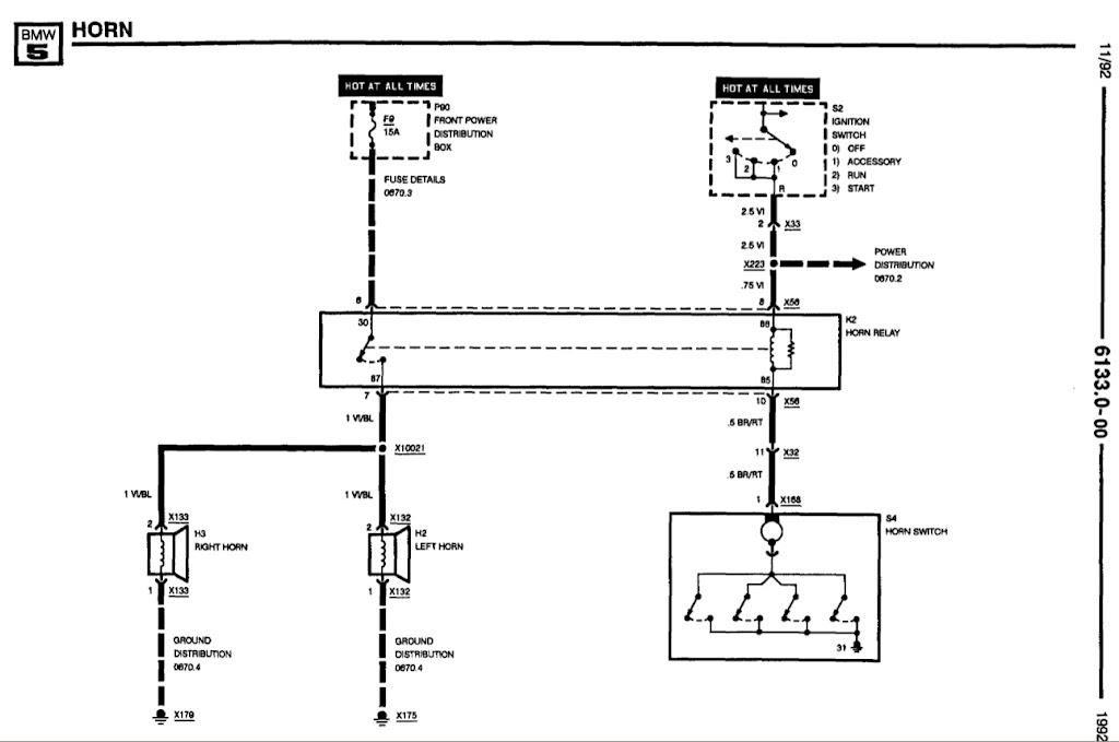 horn honk wiring diagram