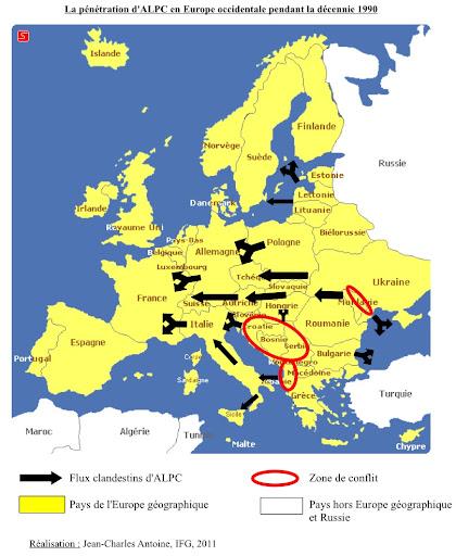 L Europe De L Est : europe, Trafic, D'armes, Légères, Provenance, D'Europe, L'Est, L'expansion, Mondiale, (2/3), REGARD, L'EST