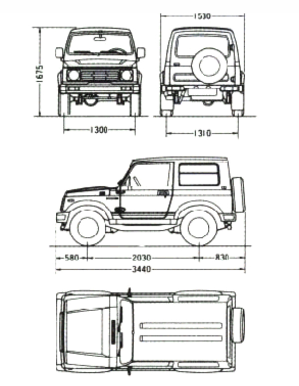 Dimensions For Suzuki Sidekick Pictures to Pin on