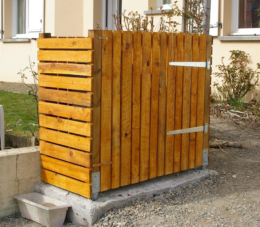 Cache Poubelle Design Abris Containers Poubelles Abri Poubelle Pas
