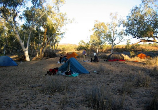 Larapinta Trail - Camping at Davenport Creek