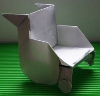 origami Wheel Chair 3D ~ make origami easy instructions ...
