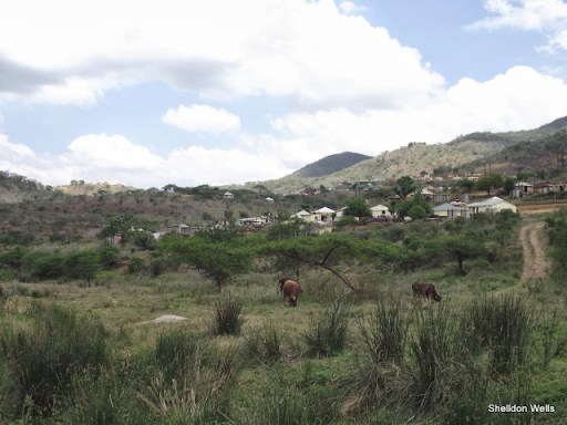 the rural village of isithumba in the valley of 1000 hills, durban, south africa