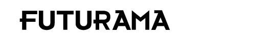 Futurama logo font