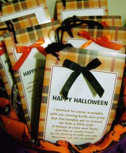 Pumpkin Poop and Draw String Bags