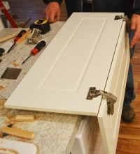 Installing Pie Cut Hinged Doors for Lazy Susan Corner ...