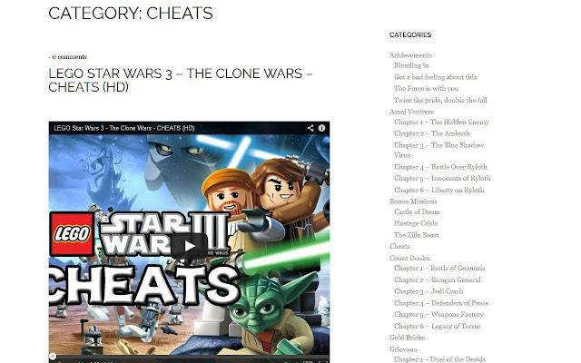 Lego Clone Wars Walkthroughs Chrome Web Store