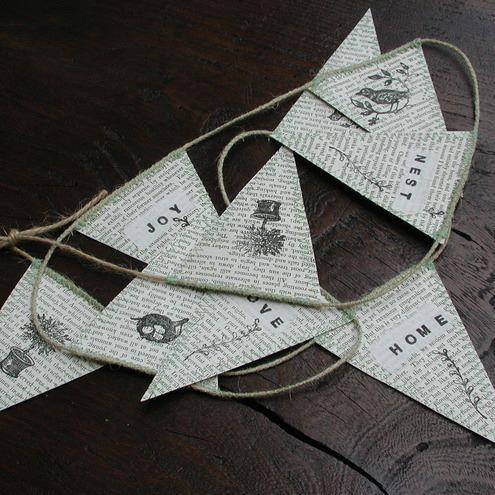 Tuesday's Resourceful Little Idea: DIY Recycled Paper Bunting (5/6)