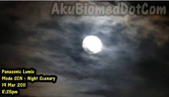 Fenomena Supermoon kelihatan di Rawang