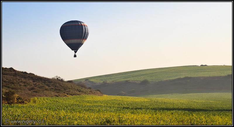 Фото: На рассвете они улетели – Воздушные шары над цветущим Негевом