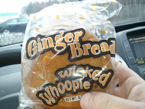 photo of a gingerbread whoopie pie given for April's Volunteer Appreciation month