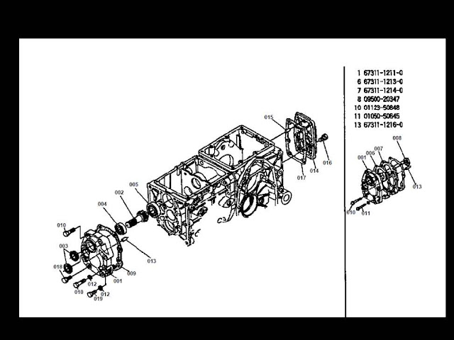 Kubota B 5200 D B5200D Tractor Parts Manual 175PGS for sale