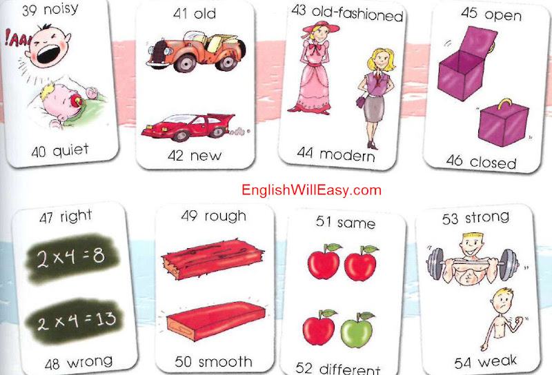 Vocabulary List By Opposites Or Antonyms Online