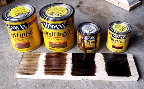 Minwax Ebony Stain On Oak