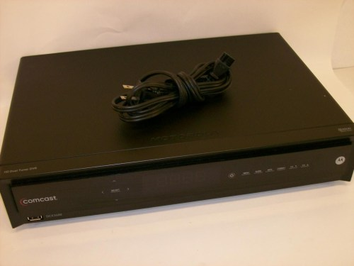 small resolution of comcast motorola dct3412 2305 120gb dvr hd dual tuner cable box