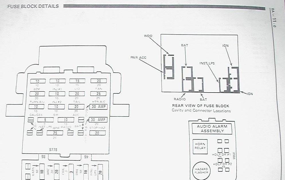 1986 Chevy Blazer Fuse Box Diagram / The electric fuel