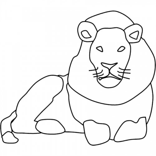 Löwe Einfach Zeichnen - Ausmalbilder
