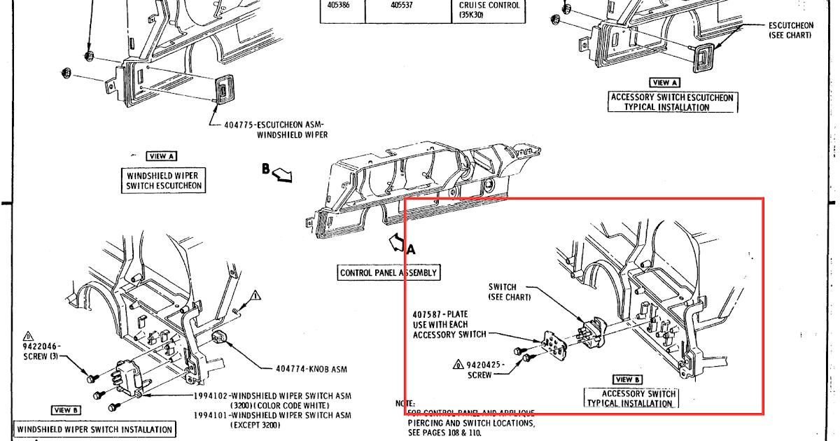 1972 Olds Instrument Cluster Wiring Diagram