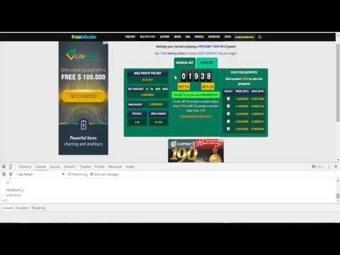 Freebitcoin hack - Hack Freebitcoin 2016: Earn 1BTC/24hour with auto bet 100% win part 2