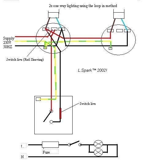 Two Way Switching Wiring Diagram