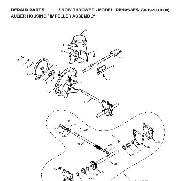 Wiring Diagram Database: Wheel Horse Snowblower Parts Diagram