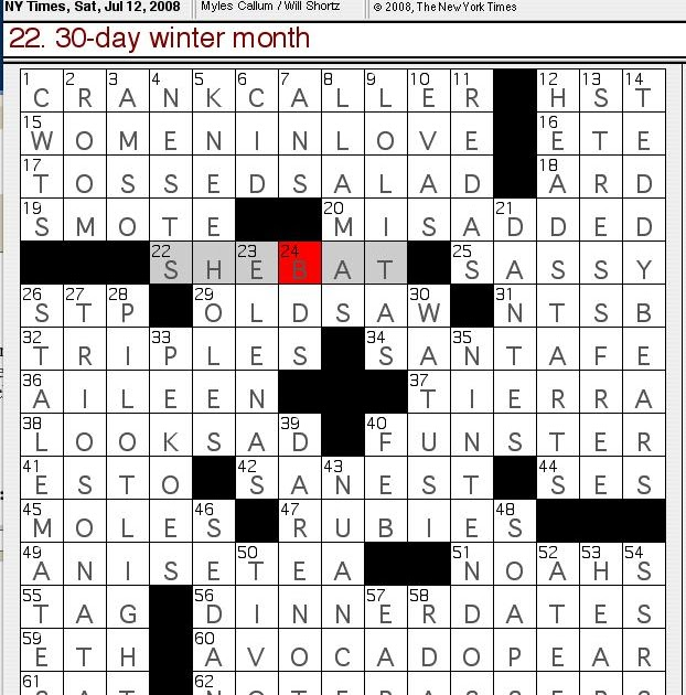 Rex Parker Does the NYT Crossword Puzzle: SATURDAY, Jul