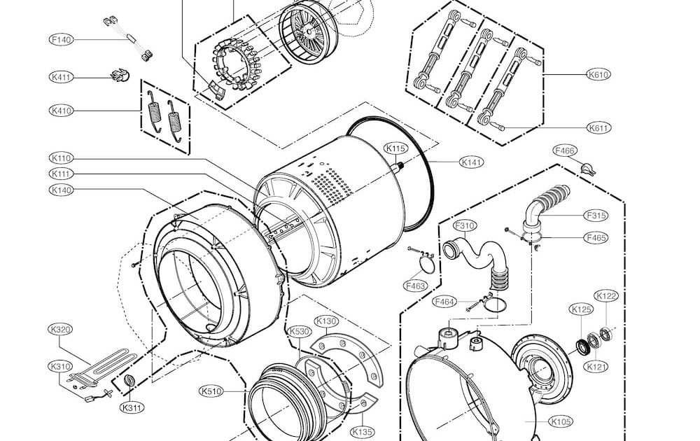 Wiring Diagram: 33 Front Load Washer Parts Diagram