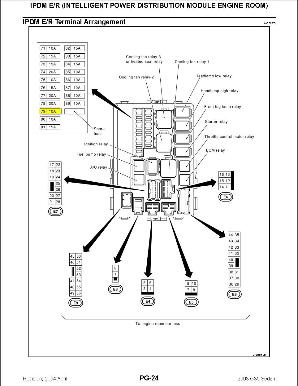 Circuit Electric For Guide: 2007 infiniti g35 fuse diagram