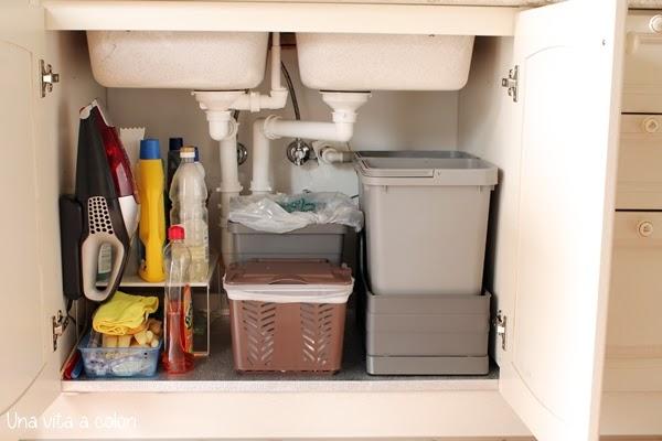 Come organizzare il sotto lavello della cucina  Gestione