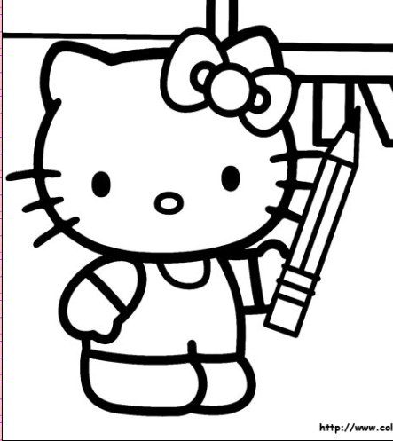 math coloring sheets : Kitty Friends Coloring Pagesuper