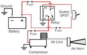 Horn Schematic | Circuit Diagram Images
