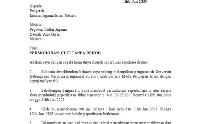 Surat Permohonan Cuti Perkahwinan Surasmi G Cute766