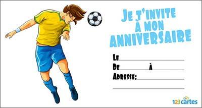 carte anniversaire foot cartes