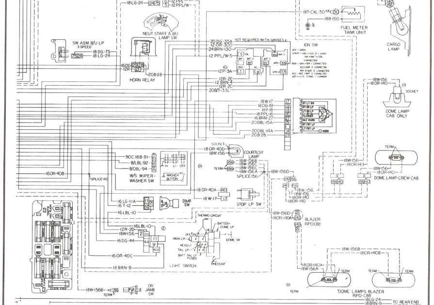 1976 Chevy C10 Wiring Diagram