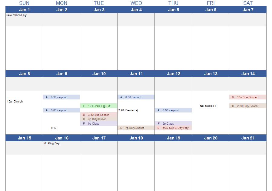 Microsoft Excel Templates: Printable Weekly Calendar Excel ...