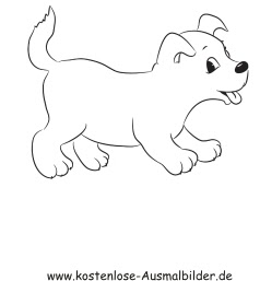 Ausmalbild Hundewelpen
