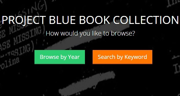 Project Blue Book Goes Online  Educating Humanity