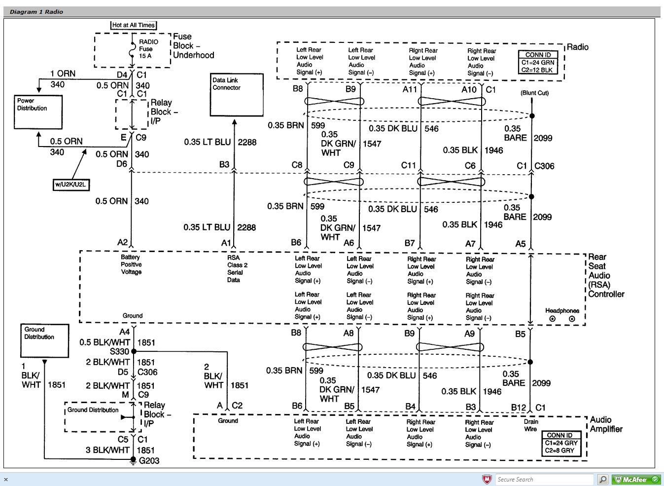Wiring Diagram PDF: 2003 C4500 Wiring Diagram Blower