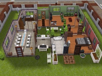Player Designed House The Sims Freeplay Modern Design