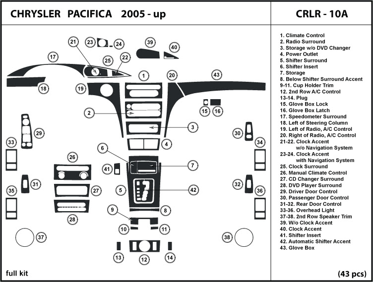 Wiring Diagram: 34 2005 Chrysler Pacifica Parts Diagram