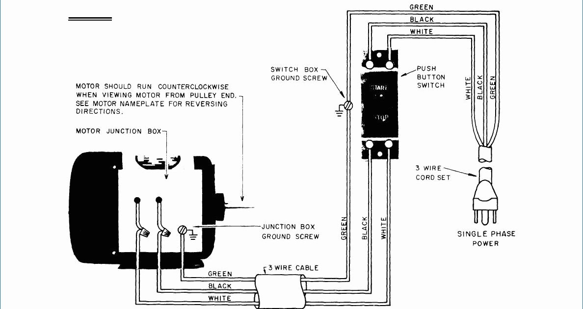 220V Single Phase Wiring Diagram / Diagram 220v Single