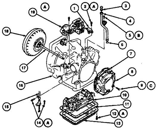 schematics and diagrams: 1993 Ford Escort Transmission