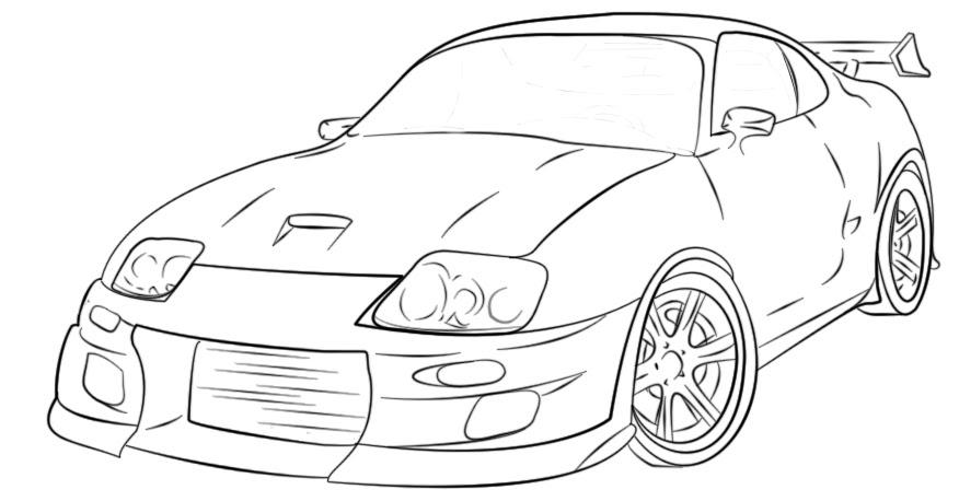 Mewarna08: Kleurplaat Toyota Supra
