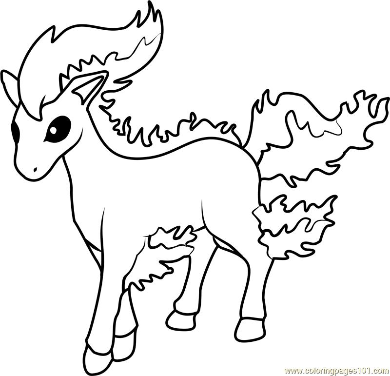 Pokemon Ponyta Kleurplaat