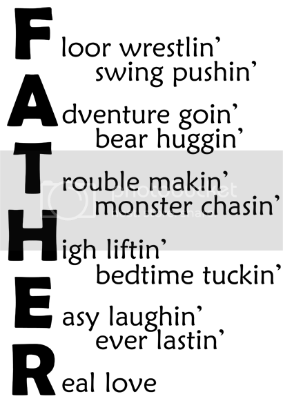 Lazy Daisy Designs: FATHER acrostic