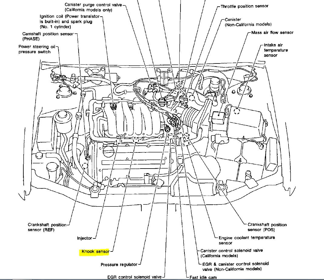 2002 Nissan Maxima Camshaft Position Sensor Bank 1